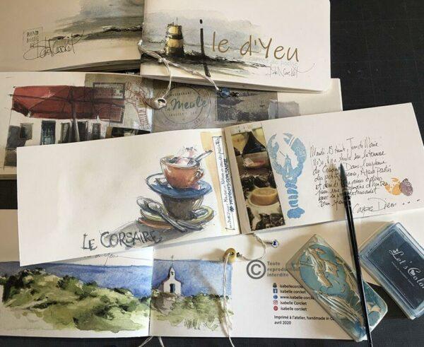 Carnet de voyage Isabelle Corcket Ile D'YEU