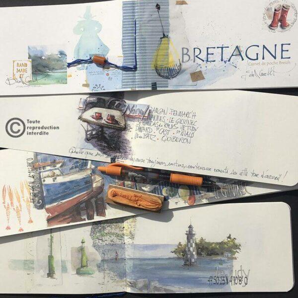 Carnet de voyage bretagne Isabelle Corcket