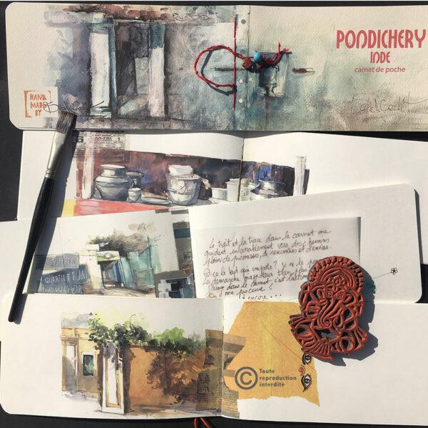 carnet de voyage Pondicherry Isabelle Corcket